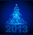 blue christmas tree twenty-thirteen broken glass vector image vector image