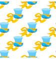 blue wizard hat with yellow tape seamless pattern vector image vector image