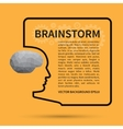 Brainstorm creative thinking background concept vector image