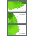 Business card templates with abstract background vector image vector image