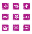capital expenditure icons set grunge style vector image