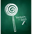 chalkboard drawing candy vector image