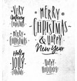 chrictmas lettering vector image