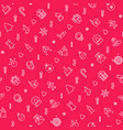 christmas celebration seamless pattern vector image