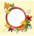Colorful autumn leaves background llustration vector image