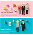 Concept of business meeting teamwork partnership vector image