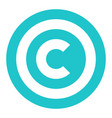 copyright symbol sign flat icon vector image vector image