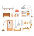cozy home interior minimalist accessories and vector image vector image