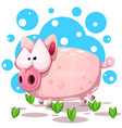 cute pig jump symbol year 2019 vector image