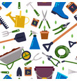 different tools for gardening seamless vector image vector image