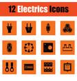 electrics icon set vector image