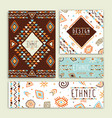 ethnic tribal art hand drawn card collection vector image vector image