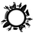 farm frame icon vector image vector image