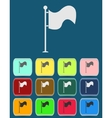 Flag Icon with color variations vector image