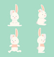 flat funny bunny collection vector image