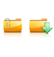 folder buttons vector image vector image