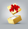 gift box in motion vector image vector image