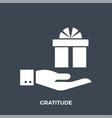 gratitude glyph icon vector image