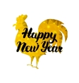 Happy New Year Rooster with Gold vector image vector image