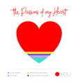 heart infographic colorful chart vector image vector image
