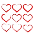 hearts set cartoon vector image vector image