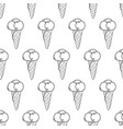 ice cream easy pattern linear-12 vector image vector image