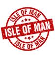 isle of man red round grunge stamp vector image