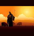 jesus as a shepherd vector image