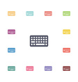 keyboard flat icons set vector image