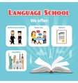 Language school benefits vector image vector image