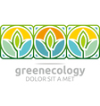 leaves green ecology design vector image vector image