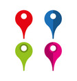 location pointer set icons simple vector image vector image