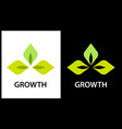 logo company engaged in the cultivation of plants vector image vector image