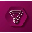 Medal icon Winner design over hexagon vector image vector image