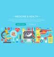 medicine and health design concept set vector image
