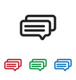 messages icon vector image vector image