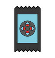 movie ticket isolated icon vector image