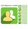 Patients Icon and Medical Longshadow Icon Set vector image vector image