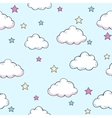 pattern with clouds vector image vector image