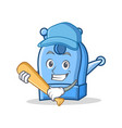 playing baseball pencil sharpener character vector image vector image