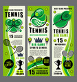 racket ball and tennis trophy banners vector image vector image