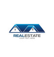 real estate for sale logo design vector image vector image