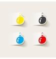 realistic design element christmas ball vector image