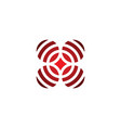 red target icon sign logo vector image