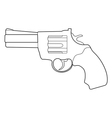 revolver pistol vector image