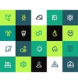 Science icons set Flat vector image