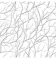 Seamless pattern with branch silhouettes vector image