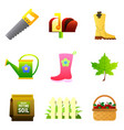 set nine color icons - saw mailbox vector image