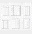 set realistic windows isolated on the vector image vector image