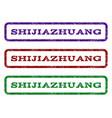 shijiazhuang watermark stamp vector image vector image